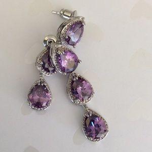 Jewelry - Beautiful PURPLE AMETHYST Dangle EARRINGS